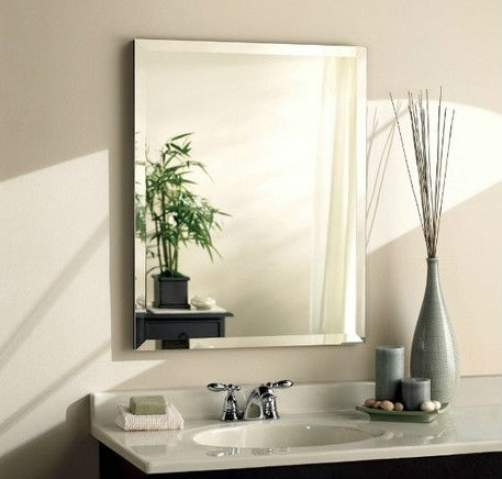 Manufacturer of Frameless silver coated bath wall mirrors