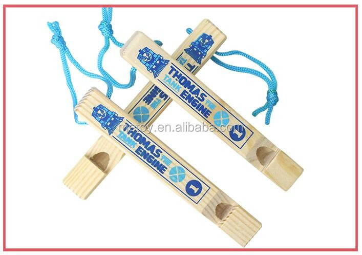 Hot sale promorional Thomas wooden train whistle