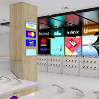 Glass display counter for mobil phone store furniture design
