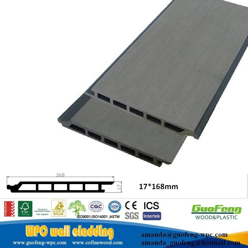 Outdoor decorative plastic wood composite wall covering panel wpc cladding