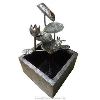 Moderne Außen Metall Künstliche Blume Wasserfall Garten Dekoration