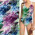 Breathable custom spandex textile printing fabric swimwear wholesale polyester lycra fabric