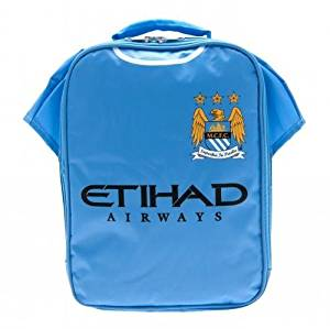 Manchester City F.C. Kit Lunch Bag- Shirt Shape Lunch Bag With Name Tag 29Cm X 24Cm X 7Cm