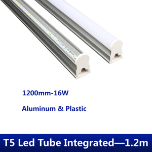 T5 LED Tube 1200mm Light 16W 220V LED Fluorescent Tube T5 Wall Lamps warm/white T5 Bulb Light clear /milky cover