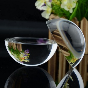 wholesale price half ball clear glass dome paperweight