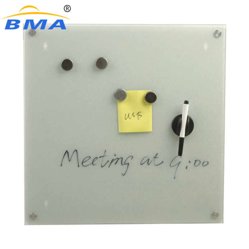 Office easy erase magnetic glass whiteboard glass white board
