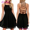 Top Quality Import 100% Polyster Good Deeps Maxi Dress Black Lace Skater Skirt