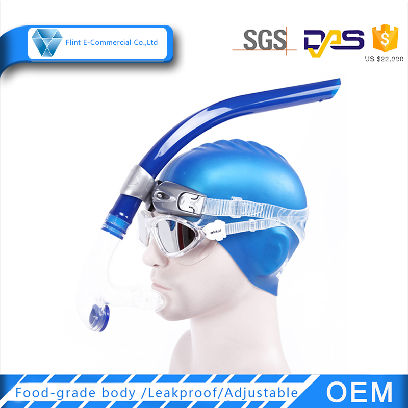 Swimming Accessories Blue Dving Dry Snorkel in Snorkel