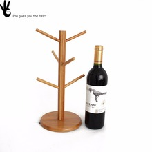 Antique high quality tree design hanging wine glass drying rack