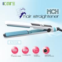 LCD temperature display Professional ceramic hair straightener