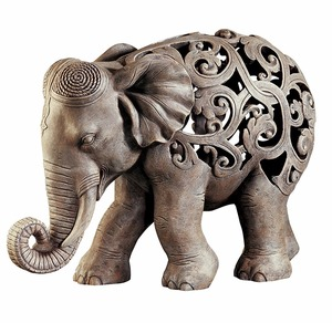 Custom Resin Anjan the Elephant Jali Sculpture