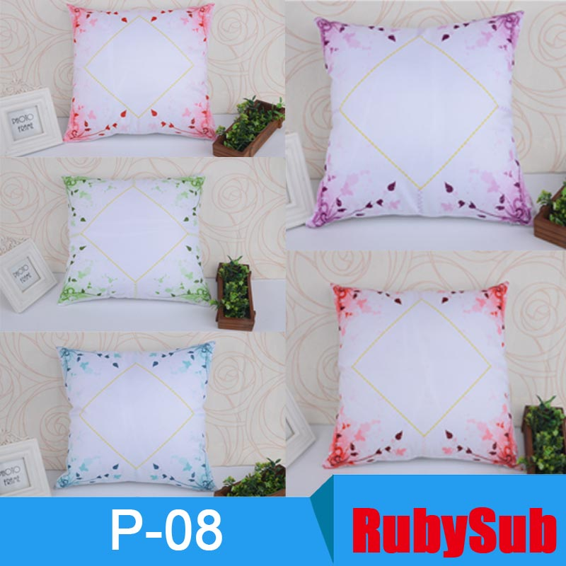 DIY Diagonal double-side pillow polyester blank sublimation lace pillowcase
