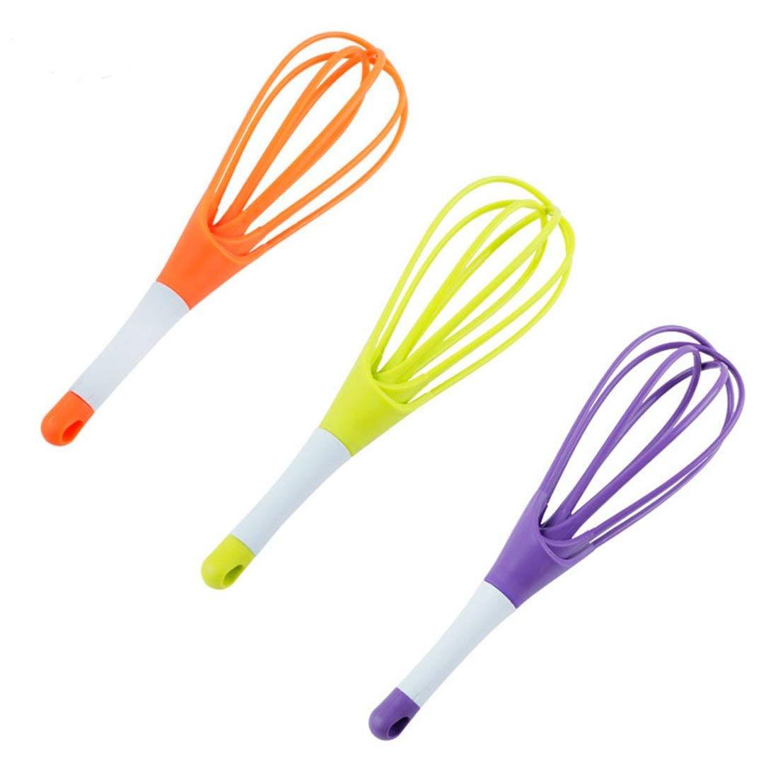 3Pcs 3 Colors/set Kitchen Gadgets Egg Beaters Egg Whisk Mixer Kitchen Blender Baking Flour Stirrer