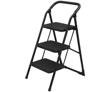 Folding steel attic ladder
