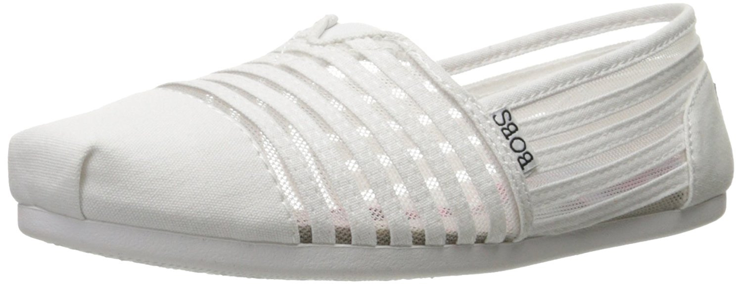 BOBS from Skechers Womens Plush Fashion Slip-On Flat