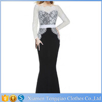 Lace Long Sleeve Prom Elegant Long Formal Dresses