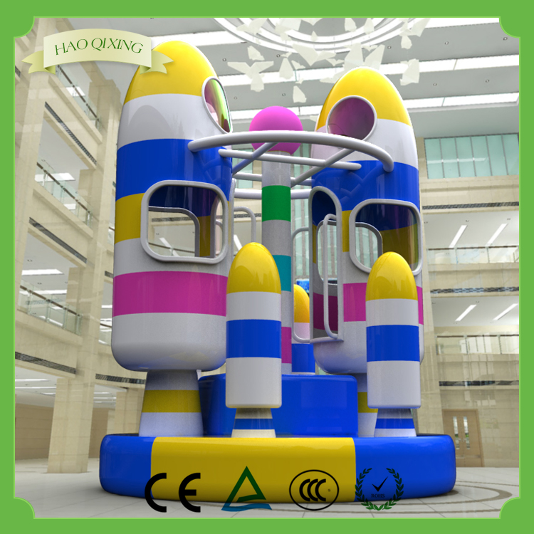Selling new rotating rocket / indoor children's playground equipment