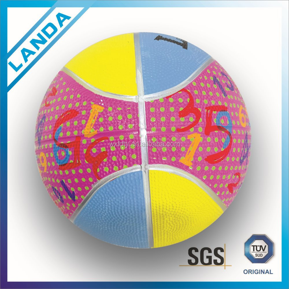 Rubber basketball /kids toy/ gsmes ball