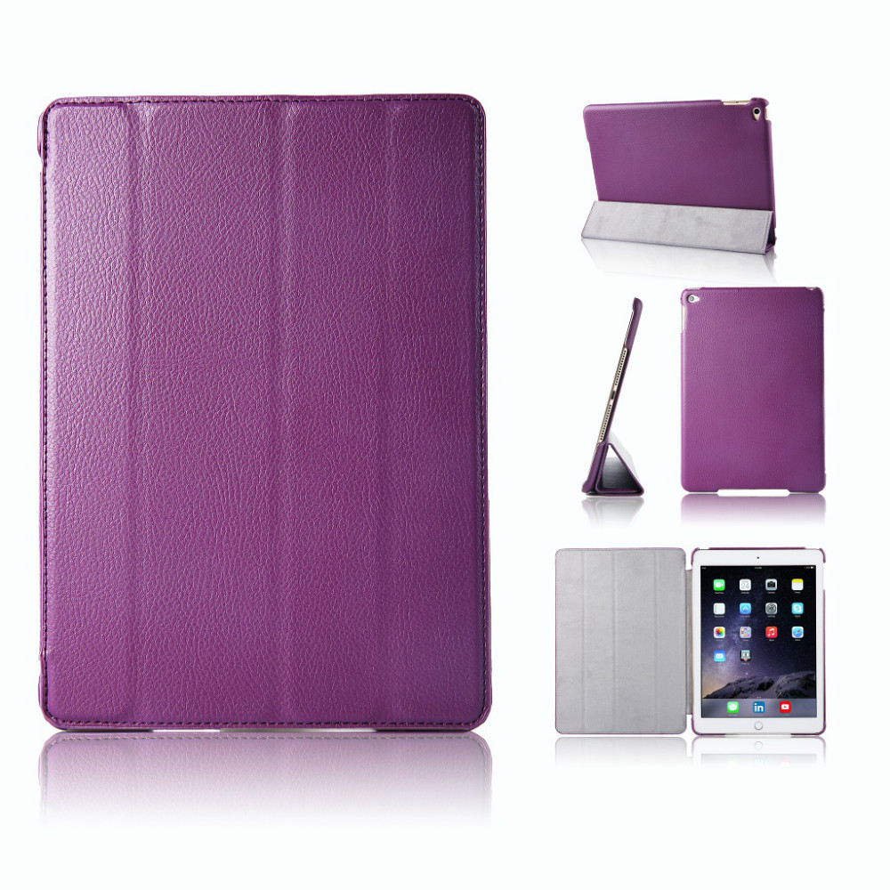 65204de7a9b20 Get Quotations · Deluxe Smart PU Leather Case For Apple iPad Air 2 Magnetic  Stand Holder Case For iPad