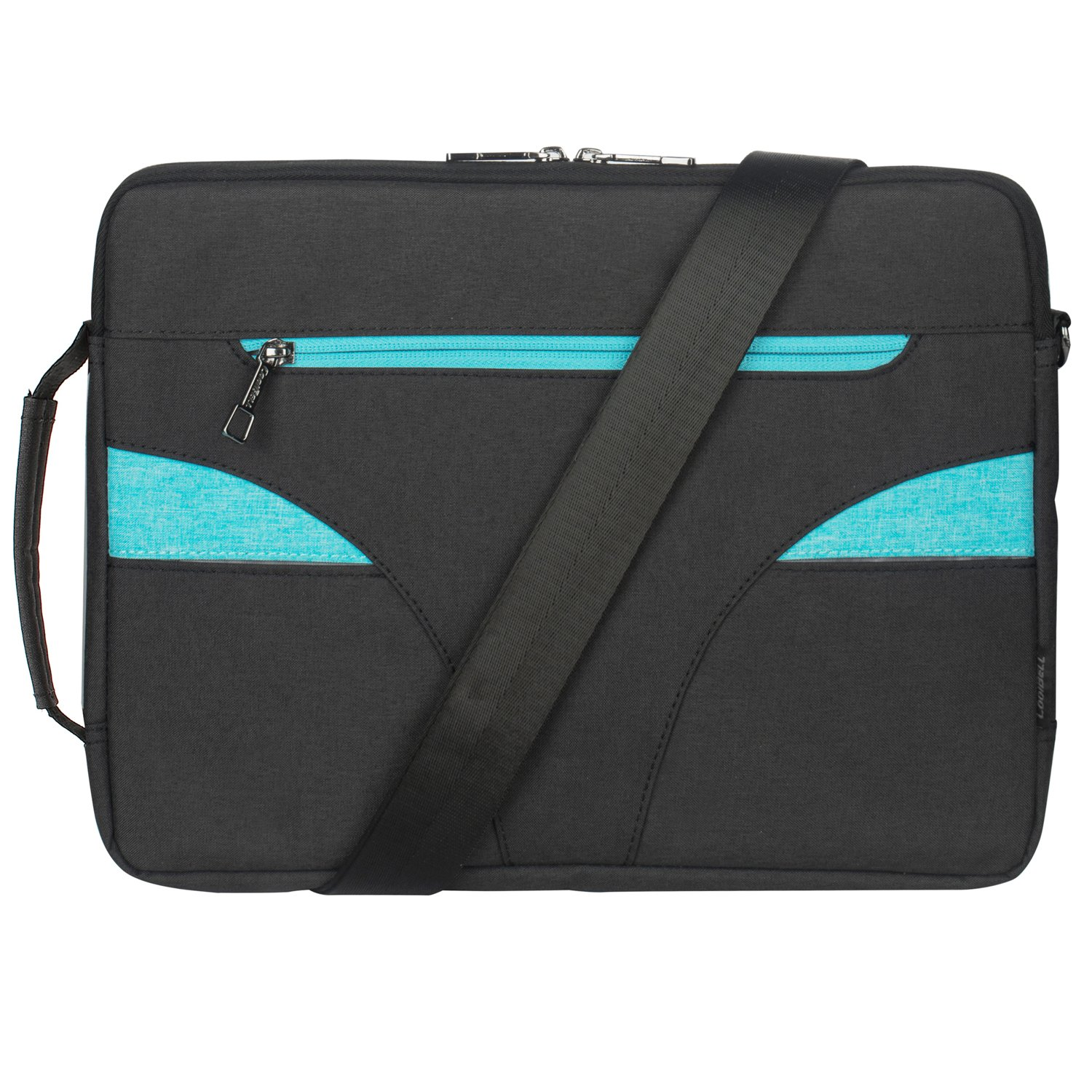 CoolBell 15.6 Inch Laptop Case With Handle Macbook Shoulder Bag Ultra-book Sleeve Bag Include Shoulder Strap (Black)