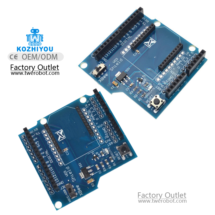 Bluetooth XBee Shield V03 Module Wireless Control For XBee ZigBee Board For Ard Serial Adapter Module FT232RL IC 3.3V 5V IO