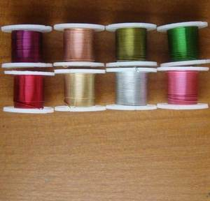 Many types of craft colored copper florist cut wire