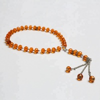 Wholesale Islamic amber prayer beads tesbih 33 crystal beads crystal bead for jewelry accessories