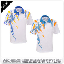 sublimation polo t shirt 2018 printed /oem service /short sleeve