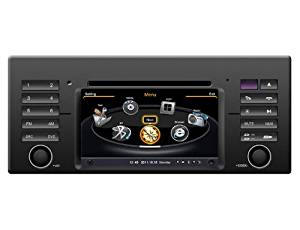 SDB Car DVD Player With GPS Navigation(free Map) For BMW 5 Series E39 1999-2004 Audio Video Stereo System with Bluetooth Hands Free, USB/SD, AUX Input, Radio(AM/FM), TV, Plug & Play Installation