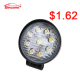 IP67 Waterproof grade high lumen high power 27w 4 inch car led work light lamp