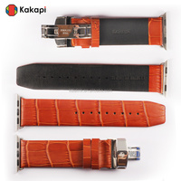 Smart Watch Genuine Crocodile Leather Stouch Watch Band for Apple Watch Band Leather Wristband