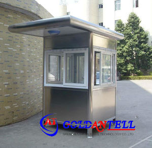High quality movable portable outdoor booths stainless steel sentry guard prefab house box security room