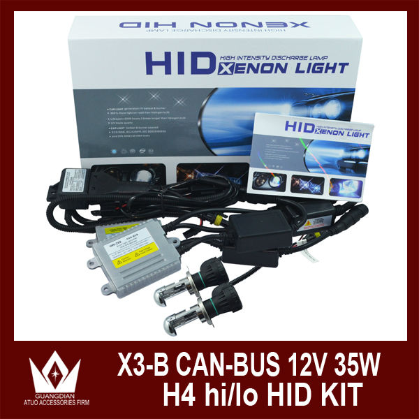 High quality 35 w 55 w hi lo H4 H13 9004 9007 xenon kit 100% waterproof