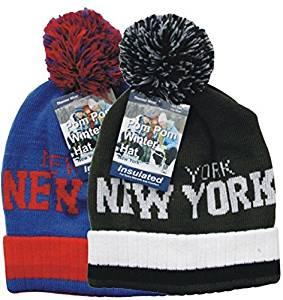 42c4258c87d Get Quotations · Ny Insulated Pom Pom Winter Hats (72 Pieces) - Ny  Insulated Pom Pom Winter
