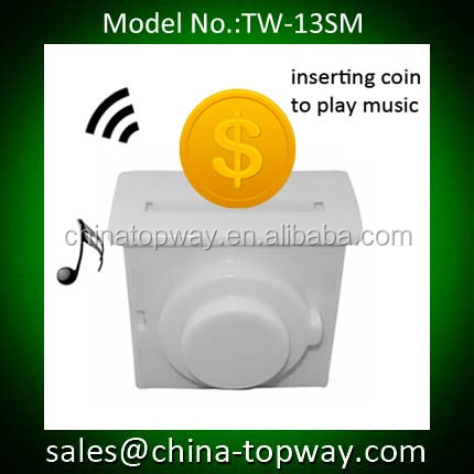 Inserting coin sound module for money bank