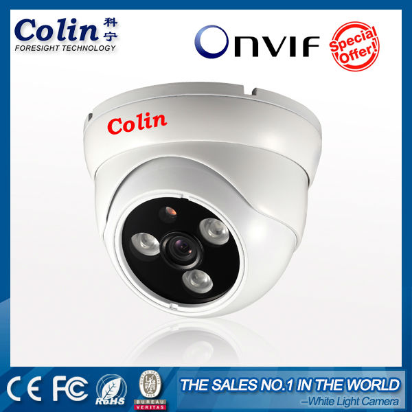 Colin real color night vision white light onvif p2p waterproof ir based poe ip security 2mp vandalproof ir dome camera