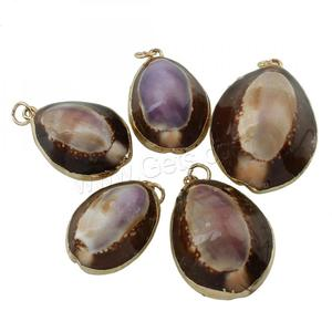 Trumpet Shell sea shell pendant for women brass Conch gold color 18x26x11-23x32x15mm Hole: 3mm 1300579