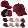 Unisex Men Women Suede Baseball Cap Snapback Visor Sport Sun Adjustable Hat