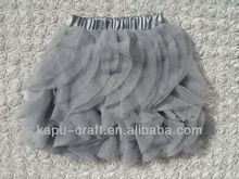 Hot sale Fashion black petal kids short skirts,short tutu prom dresses