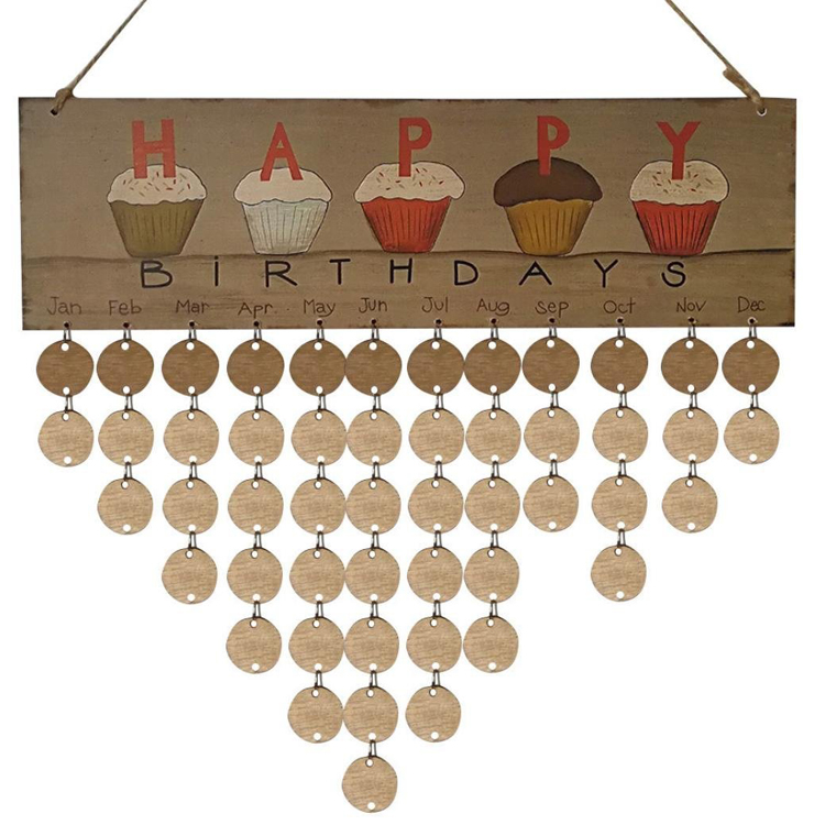 2018 advent wooden hanging calendar