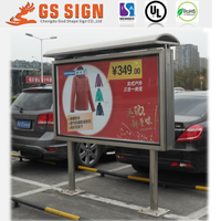 Double sided outdoor advertising board