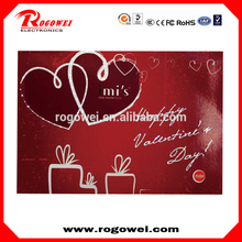 Brand new Logo brand customized promotional items light up bulk greeting cards made in China