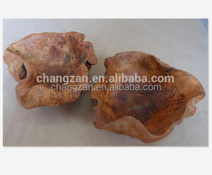 Natural Sharp Food Safe Amazing Delicate and Special Cheap Root Carving Wood Fruit Bowl
