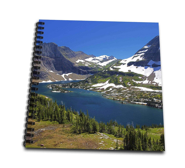 Danita Delimont - Charles Gurche - Rivers - USA, Montana, Glacier National Park, Logan Pass, Hanging Gardens - Memory Book 12 x 12 inch (db_189854_2)