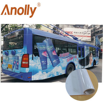 Anolly White/Black High quality self adhesive vinyl rolls for digital printing eco solvent printing vinyl