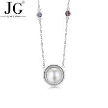 Germanium Necklace Wholesale, Latest Design Beads Necklace 925 Sterling Silver Jewelry with Beautiful Charm Silver Chain