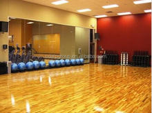 low-cost option 12mm thick fire resistant muted colors interlocking bowling sports wood laminated flooring