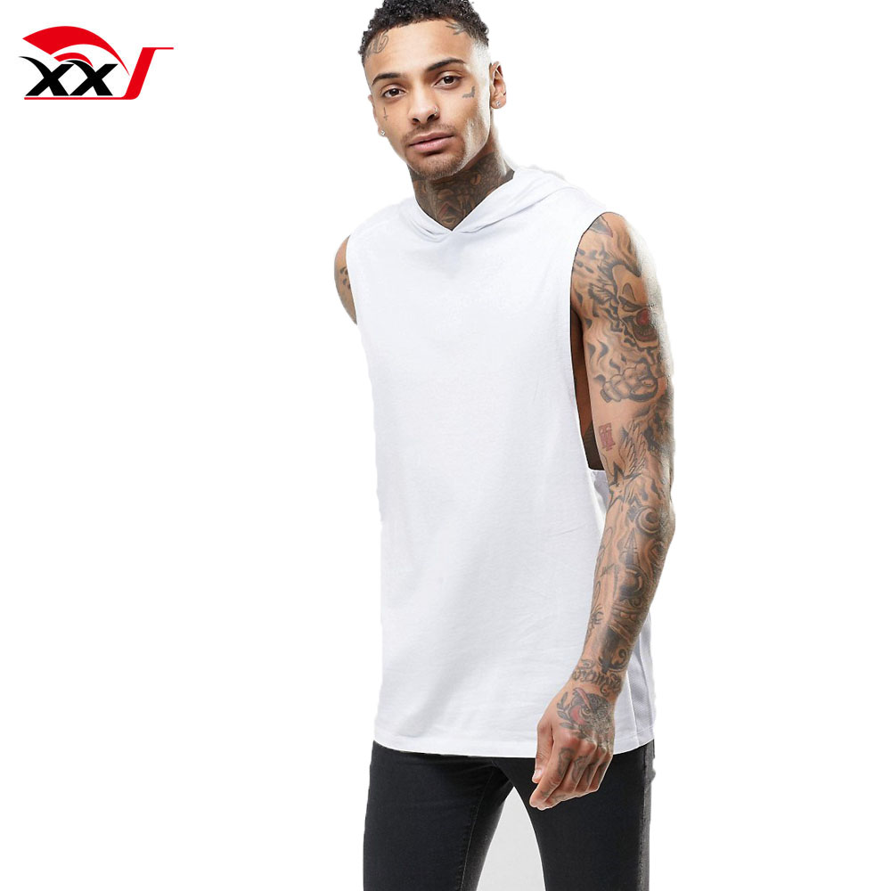 mens gym clothing plain tank tops fitness cotton white tank top with hood custom online shopping