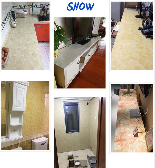 3d Marmor Arbeitsplatte Kontakt Papier Weiß Marmor Tapeten Für Küche ...