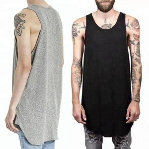 mens summer hip hop tank top,men muscle vest extend long new fashion mens sleeveless t shirts with zipper